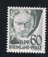 1948 August Rheinland-Pfalz Mi DE-FRP 27 Sn DE 6N27 Yt DE-FRP 27 Sg DE-FR 27 Postfrich Xx - Französische Zone