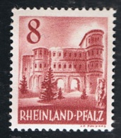 1949 Juli Rheinland-Pfalz   Mi DE-FRP 36 Sn DE 6N33A Yt DE-FRP 33A Sg DE-FR 36  Postfrich Xx - Französische Zone