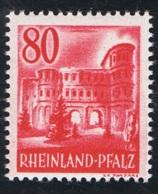 1948 Dez. Rheinland-Pfalz   Mi DE-FRP 40 Sn DE 6N37 Yt DE-FRP 37 Sg DE-FR 40  Postfrich Xx - Französische Zone
