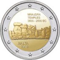 2ième Pièce De 2 Euros Commémorative Malte 2018 : Mnajdra - Malte