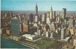 W1277 New York - United Nations From The East River - Aerial View / Viaggiata 1970 - Viste Panoramiche, Panorama
