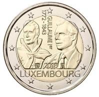 2ième Pièce De 2 Euros Commémorative Luxembourg 2018 : Grand Duc Guillaume 1er - Luxembourg