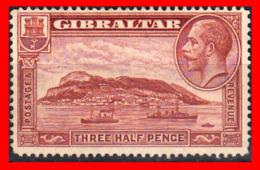 GIBRALTAR SELLO 1931 -1933 THREE HALF PENNY THE GIBRALTAR ROCK - Gibraltar