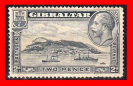GIBRALTAR SELLO 1931 -1933 TWO PENCE THE GIBRALTAR ROCK - Gibilterra