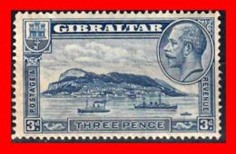 GIBRALTAR SELLO 1931 -1933 THREE PENCE THE GIBRALTAR ROCK - Gibraltar
