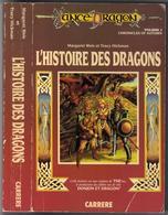 """LANCE-DRAGON """" L'HISTOIRE DES DRAGONS """"  CARRERE  DE 1987 AVEC 470 PAGES GRAND-FORMAT - Livres, BD, Revues"""