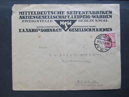 BRIEF Berlin - Wien 5 Mio EF 11.10.1923 Seifenfabrik Leipzig Wahren ///  D*36768 - Deutschland