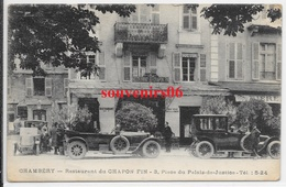 73 - Chambery - Restaurant Du Chapon Fin - 9 Place Du Palais De Justice (belles Voitures,personnes) - Chambery