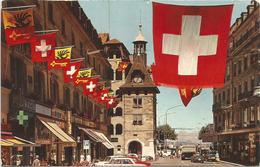 W1284 Geneve - La Place Du Molard - Auto Cars Voitures / Viaggiata 1971 - GE Geneva