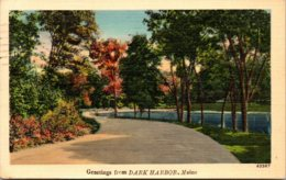 Maine Greetings From Dark Harbor 1950