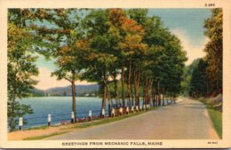 Maine Greetings From Mechanic Falls 1940 Curteich