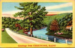 Maine Greetings From Chesuncook