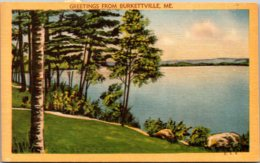 Maine Greetings From Burkettville 1951