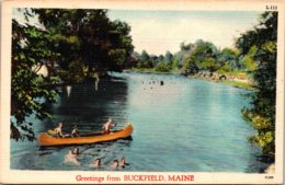 Maine Greetings From Buckfield 1956