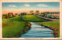 Maine Greetings From Lisbon Falls 1941