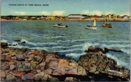 Maine Fishing Boats At York Beach