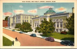 Maine Bangor High School and Library 1942