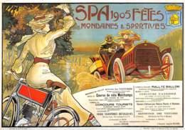 CPM - SPA - 1905 - FÊTES - Mondaines & Sportives (Ancienne Affiche 190, Coll. Musée De La Ville D'Eaux à SPA) - Spa
