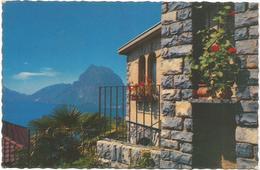 W1292 Lugano - Castagnola - Monte San Salvatore - Panorama / Viaggiata 1964 - TI Tessin
