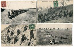 5 CP * Infanterie Combat Feux Salves Joue ! Avant L'Assaut A L'Assaut En Tirailleurs Manoeuvres Tir Avion Mitrailleuses - Régiments