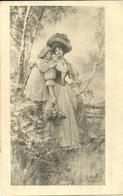 Joyeuses Paques  -- Femme Avec Fillette                            -- M M VIENNE 295 - Illustrateurs & Photographes