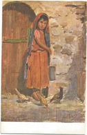 W1297 Libia - Tripoli - Bambina Araba - Giovanni Rava - Dipinto Paint Peinture Illustrazione Illustration - Libia