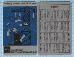 DDR East Germany/ Reliably Master Electric Power Energy/ Kombinat VEM/ Pocket Calendar/ Metal ! 1985 RAR! - Small : 1981-90