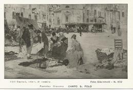 W1298 Giacomo Favretto - Venezia Campo San Polo - Dipinto Paint Peinture - Esposizione Internazionale Di Venezia - Pittura & Quadri