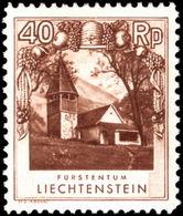 Liechtenstein 1930 40r Perf 11½v10½ Unmounted Mint. - Unused Stamps