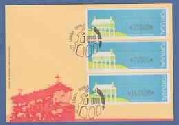 Portugal 1991 ATM Espigueiro Mi.-Nr. 3 Offiz FDC Mit Satz 35-70-140 ET-O LISBOA - Automatenmarken (ATM/Frama)