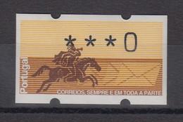 Portugal 1990 ATM Postreiter Mi.-Nr. 2.2  Nulldruck **  - Automatenmarken (ATM/Frama)