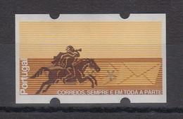 Portugal 1990 ATM Postreiter Mi.-Nr. 2.2  Werteindruck Kopfstehend **  - Automatenmarken (ATM/Frama)