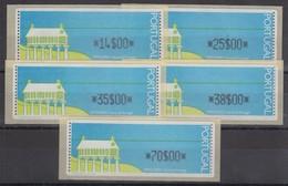 Portugal 1992 ATM Espigueiro Mit Punkten Mi.-Nr. 4 Satz 14-25-35-38-70 **  - Automatenmarken (ATM/Frama)