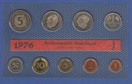 Bundesrepublik DM-Kursmünzensatz 1976 J Stempelglanz - [ 7] 1949-… : RFA - Rép. Féd. D'Allemagne