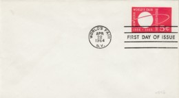 Sc#U546 5c New York World's Fair 1964 FDC Day Of Issue Cover World's Fair NY Postmark - Postal Stationery