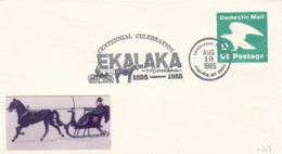 Sc#U607 'D' Rate (22c) On Ekalaka Montana Centennial Celebration Cover, 10 August 1985 - Event Covers