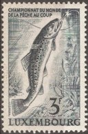 Luxemburg 1963 1 Val MNH Trout - Forel - Forelle - Fishes