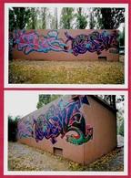 PHOTO Photographie (Lot De 2) TAG - STREET ART - GRAFFITI - ART URBAIN - Photographs