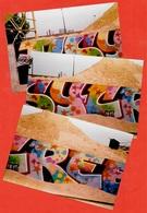PHOTO Photographie (Lot De 3) TAG - STREET ART - GRAFFITI - ART URBAIN - Photographs