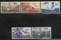 Somalia Scott # C8,10-13 Used Various Designs, 1936 - Somalia