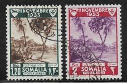 Somalia Scott # C37-8 Used Juba River, 1954 - Somalia