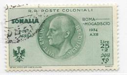 Somalia Scott # CB10 Used Victor Emmanuel Lll, 1934, CV$120.00 - Somalia