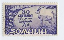 Somalia Scott # E9 Used Gazelle,1950,CV$21.00 - Somalia