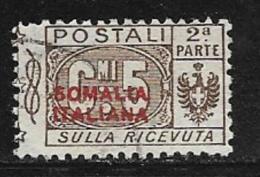Somalia Scott # Q25 Part 2 Used Italy Parcel Post Stamp,1926 - Somalia