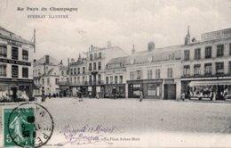 CPA   51   EPERNAY ILLUSTRE---LA PLACE AUBAN-MOET  ---1908 - Epernay
