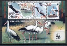 Bosnia & Herzegovina 1998 WWF White Storks MUH - Bosnia And Herzegovina