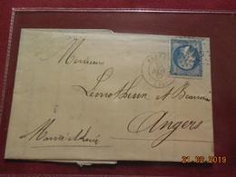 Lettre De 1867 Au Depart De Rennes A Destination De Angers - Marcophilie (Lettres)