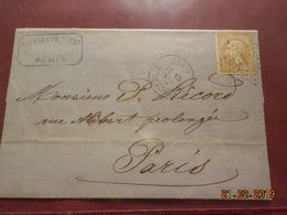 Lettre De 1866 Au Depart De Paris A Destination De Paris - Marcophilie (Lettres)
