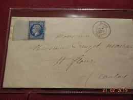 Lettre De 1863 Au Depart De Murat A Destination De St Flour - Marcophilie (Lettres)