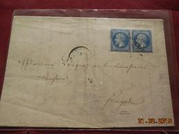 Lettre De 1863 Au Depart De St Omer A Destination De Fruget - Marcophilie (Lettres)